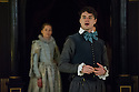 London, UK. 25.02.2014.  Shakespeare's Globe presents THE KNIGHT OF THE BURNING PESTLE, directed by Adele Thomas, in the Sam Wanamaker Playhouse. Picture shows: Matthew Needham (Rafe) and Sarah McRae (Luce). Photograph © Jane Hobson.
