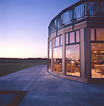 The Lodge at Bandon Dunes Golf Resort at sunset, Bandon, Oregon