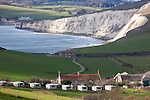 Tennyson Down,Chalk Cliffs, Freshwater Bay, Compton Bay, Compton Farm, Brook Down, Isle of Wight, England, UK, Photographs of the Isle of Wight by photographer Patrick Eden