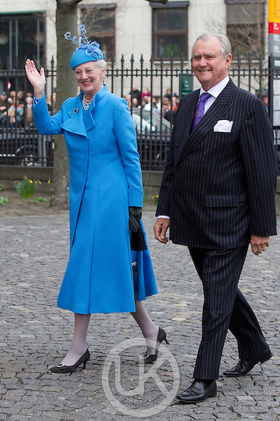 Queen Margrethe, and Prince Henrik of Denmark, attend.The Christening of the Danish Royal Twins, at Holmens Church, Copenhagen..The twins were christened, Prince Vincent Frederik Minik Alexander and Princess Josephine Sophia Ivalo Mathilda