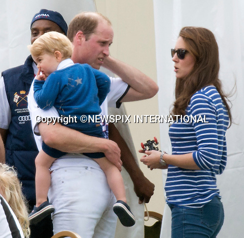 14.06.2015;London, UK: PRINCE GEORGE HAS FUN AT POLO<br /> Kate Middleton brought Prince George along to a playtime with his cousins Mia Tindall, Savannah and Isla Phillips and family members at a charity polo event.<br /> Other royals present included Peter Phillips, Autumn Phillips, Zara Phillips and husband Mike Tindal.<br /> Prince George and Kate were watching Princes William and Harry play in a charity polo match.<br /> Month old Princess Charlotte was no where to be seen.<br /> Mandatory Photo Credit: NEWSPIX INTERNATIONAL<br /> <br /> **ALL FEES PAYABLE TO: &quot;NEWSPIX INTERNATIONAL&quot;**<br /> <br /> PHOTO CREDIT MANDATORY!!: NEWSPIX INTERNATIONAL(Failure to credit will incur a surcharge of 100% of reproduction fees)<br /> <br /> IMMEDIATE CONFIRMATION OF USAGE REQUIRED:<br /> Newspix International, 31 Chinnery Hill, Bishop's Stortford, ENGLAND CM23 3PS<br /> Tel:+441279 324672  ; Fax: +441279656877<br /> Mobile:  0777568 1153<br /> e-mail: info@newspixinternational.co.uk