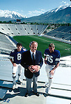 Young/Hudson/LaVell.tif<br /> <br /> Coach LaVell Edwards. 8 Steve Young. 85 Gordon Hudson.<br /> <br /> Photo by: Mark Philbrick/BYU<br /> <br /> Copyright BYU PHOTO 2008<br /> All Rights Reserved<br /> 801-422-7322<br /> photo@byu.edu