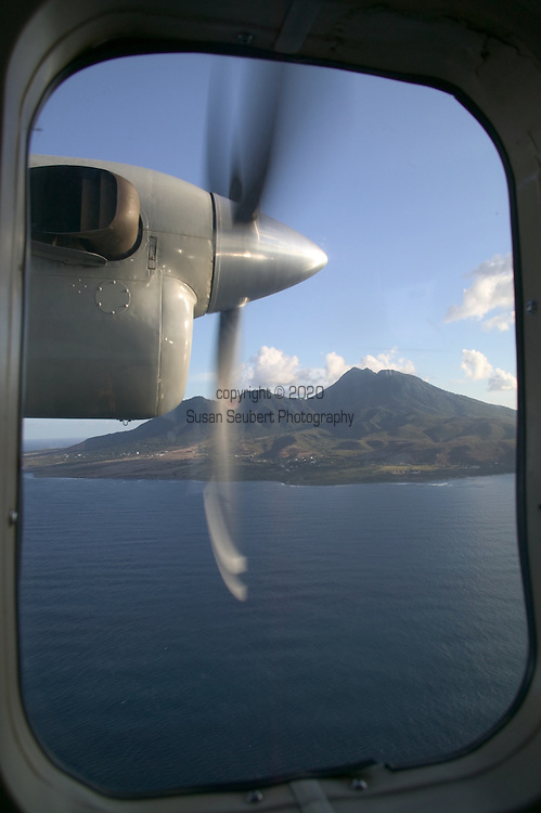 Flying by Nevis in the Caribbean, 4/05