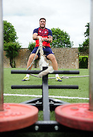 Matt Banahan of Bath Rugby in action during a Bath Rugby photoshoot on June 21, 2016 at Farleigh House in Bath, England. Photo by: Patrick Khachfe / Onside Images
