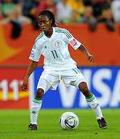 Glory Iroka of team Nigeria during the FIFA Women's World Cup at the FIFA Stadium in Dresden, Germany on July 5th, 2011.