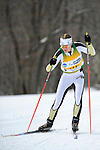 9 MAR 2011: Joanne Reid of the University of Colorado competes in the women's 5km freestyle cross country race during the 2011 NCAA Men and Women's Division I Skiing Championship held Stowe Mountain Resort and Trapp Family Lodge in Stowe, VT. Reid placed third to take bronze. ©Brett Wilhelm/NCAA Photos