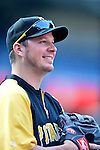 17 May 2012: Pittsburgh Pirates pitcher Erik Bedard warms up prior to a game against the Washington Nationals at Nationals Park in Washington, DC. The Pirates defeated the Nationals 5-3 in the second game of their 2-game series. Mandatory Credit: Ed Wolfstein Photo
