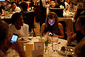 Voting via a mobile app made for the appearance of rude dinner guests, but in reality it allowed for a quick and accurate tally of votes so that a winner could be announced moments after the final plate was cleaned. Several guests did take the opportunity to continue using their smartphones and tweet updates on the event.
