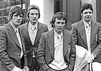 N Ireland boxing team members for 1974 Commonwealth Games:- (left to right) Ray Heaney, Gerry Hamill, Davy Larmour and Davy Campbell. 197401090016c.<br />