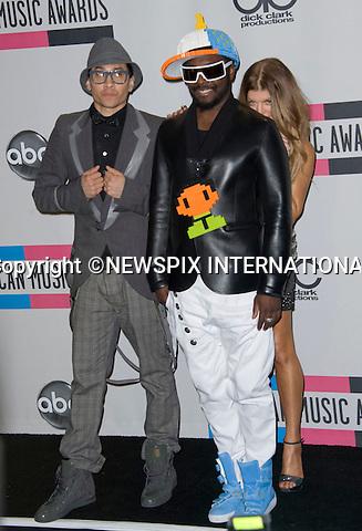 "BLACK EYED PEAS.American Music Awards 2010,Nokia Rheatre, Los Angeles_21/10/2010.Mandatory Photo Credit: ©Dias/Newspix International..**ALL FEES PAYABLE TO: ""NEWSPIX INTERNATIONAL""**..PHOTO CREDIT MANDATORY!!: NEWSPIX INTERNATIONAL(Failure to credit will incur a surcharge of 100% of reproduction fees)..IMMEDIATE CONFIRMATION OF USAGE REQUIRED:.Newspix International, 31 Chinnery Hill, Bishop's Stortford, ENGLAND CM23 3PS.Tel:+441279 324672  ; Fax: +441279656877.Mobile:  0777568 1153.e-mail: info@newspixinternational.co.uk"