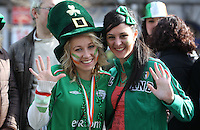 17/03/2011.(L to r) Ady Senerson from Sydnet Australia & Hannah Kaagge from Melbourne.during the St. Patrick's Day festival in Dublin's City Centre..Photo: Gareth Chaney Collins