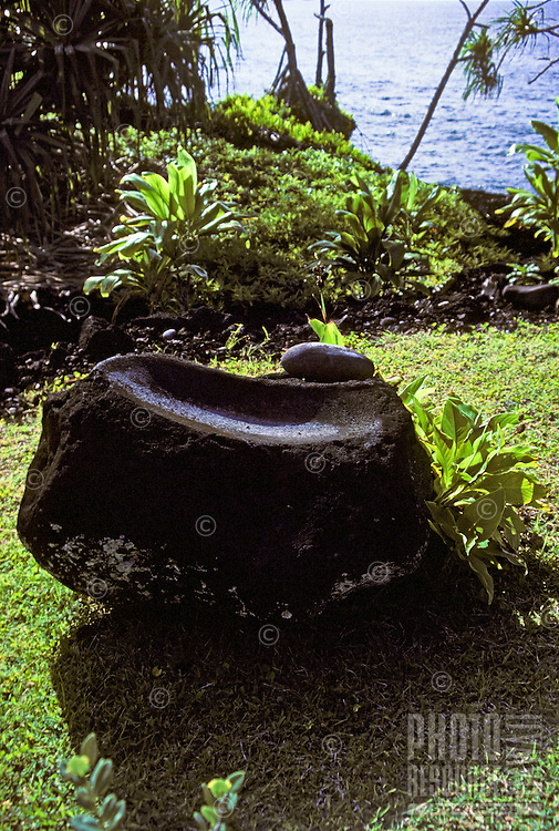 Large rock at Hana heiau, Maui