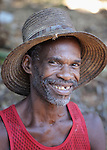 A man in Mizak, a small village in the south of Haiti.