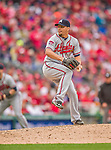 4 April 2014: Atlanta Braves pitcher Luis Avilan on the mound during the Washington Nationals Home Opening Game at Nationals Park in Washington, DC. The Braves edged out the Nationals 2-1 in their first meeting of the 2014 MLB season. Mandatory Credit: Ed Wolfstein Photo *** RAW (NEF) Image File Available ***