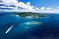 Aerial view the island of St John<br /> U.S. Virgin Islands