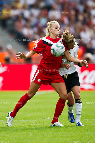 Kaylyn Kyle (CAN), Simone Laudehr (GER), JUNE 26, 2011 - Football : FIFA Women's World Cup Germany 2011 Group A match between Germany 2-1 Canada at Olympic Stadium in Berlin, Germany. (Photo by Maurizio Borsari/AFLO) [0855]