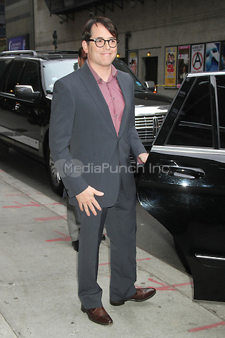 NEW YORK, NY - OCTOBER 4: Matthew Broderick at the Ed Sullivan Theater for an appearance on Late Show with David Letterman in New York City. October 4, 2012. © RW/MediaPunch Inc.