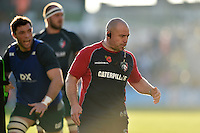 Leicester Tigers Director of Rugby Richard Cockerill looks on during the pre-match warm-up. Aviva Premiership match, between Leicester Tigers and Wasps on November 1, 2015 at Welford Road in Leicester, England. Photo by: Patrick Khachfe / Onside Images