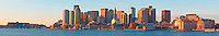 Boston Skyline &amp; Harbor, Massachusetts, Sunrise, panorama