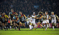 Semesa Rokoduguni of Bath Rugby goes on the attack. Aviva Premiership match, between Harlequins and Bath Rugby on March 11, 2016 at the Twickenham Stoop in London, England. Photo by: Patrick Khachfe / Onside Images