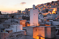 The medina or old town of Tetouan in the evening, on the slopes of Jbel Dersa in the Rif Mountains of Northern Morocco. Tetouan was of particular importance in the Islamic period from the 8th century, when it served as the main point of contact between Morocco and Andalusia. After the Reconquest, the town was rebuilt by Andalusian refugees who had been expelled by the Spanish. The medina of Tetouan dates to the 16th century and was declared a UNESCO World Heritage Site in 1997. Picture by Manuel Cohen