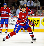 24 November 2008:  Montreal Canadiens' center Robert Lang from the Czech Republic warms up prior to a game against the New York Islanders at the Bell Centre in Montreal, Quebec, Canada. The Canadiens are celebrating their 100th season. ****Editorial Use Only****..Mandatory Photo Credit: Ed Wolfstein Photo *** Editorial Sales through Icon Sports Media *** www.iconsportsmedia.com
