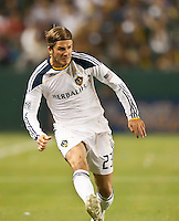 CARSON, CA – May 7, 2011: LA Galaxy midfielder David Beckham (23) during the match between LA Galaxy and New York Red Bull at the Home Depot Center, May 7, 2011 in Carson, California. Final score LA Galaxy 1, New York Red Bull 1.