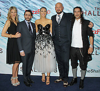 NEW YORK, NY-June 21: Lynn Harris, Jaume Collet-Serra, Blake Lively, Matti Leshem, Oscar Jaenada at the World Premiere of Columbia Pictures The Shallows at the AMC Loews Lincoln Square 13  in New York. NY June 21, 2016. Credit:RW/MediaPunch