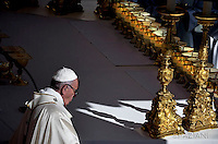 """Pope Francis  leads a canonization mass on October 16, 2016 at St Peter's square in Vatican. Pope Francis canonises Argentine """"gaucho priest"""" Jose Gabriel Brochero today along with six others raised to sainthood : Salomon Leclercq, Jose Sanchez del Río, Manuel Gonzalez Garcia, Lodovico Pavoni, Alfonso Maria Fusco and Elizabeth of the Trinity."""