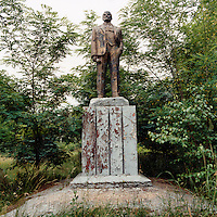 A decrepit statue of Lenin stands in the grounds of a former Russian Army base. The Cold War, which formed part of the collective consciousness of post war Europe from 1945 until 1989, dominated the military and political landscape. These sparse and ageing relics of the covert war in Europe remain as testaments to the existence of this significant period in the shared history of the East and West. CHECK with MRM/FNA