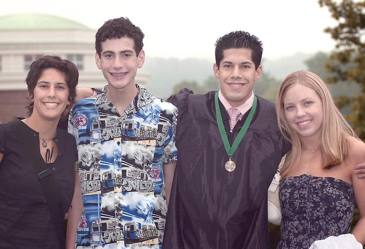 left to right:.Jen Cuenot(sister), Aaron Elman(cousin), Gregory Cuenot(graduate), Erin Von DerLieth(girlfriend)