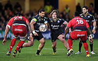 Alafoti Fa'osiliva of Bath Rugby in possession. European Rugby Champions Cup match, between Bath Rugby and RC Toulon on January 23, 2016 at the Recreation Ground in Bath, England. Photo by: Patrick Khachfe / Onside Images