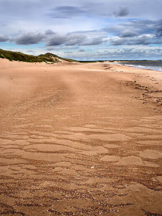 Patterns in the Sand and Dunes at Druridge Bay near Amble by the Sea on the Northumberland Coast England