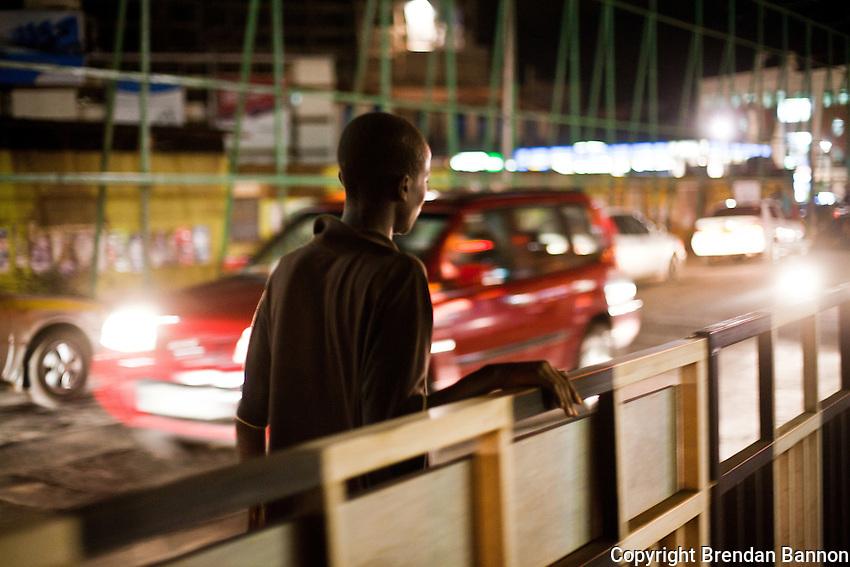 Evans Obanga, a 14 year old living on the streets of Nairobi's Westlands Neighborhood.