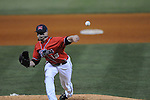 Mississippi's Tanner Mathis pitches vs. UT-Martin college baseball at Oxford-University Stadium in Oxford, Miss. on Wednesday, April 28, 2010.