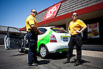 "Delta Hawkeye Security guards Travis Teel, left, and Cortnie Talbot, right, patrol the ""Miracle Mile"" business district in Stockton, Calif., July 11, 2012. The bankrupt city has cut back on many services, while residents and private contractors are picking up the slack."