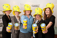 Pictured centre is janette Martindale from Marie Curie Cancer Care with Gateley fundraisers (from left) Megan Chadwick, Charlotte Chapman, Sam James and Kirstie Kerry