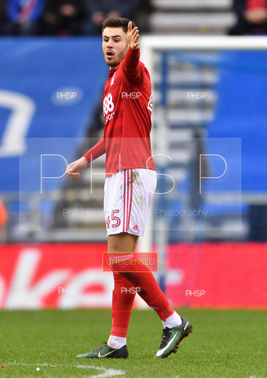 25/02/2017 Sky Bet Championship Wigan Athletic v Nottingham Forest<br /> <br /> Ben Brereton, Nottingham Forest FC