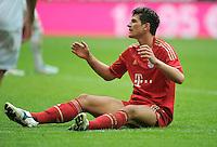 FUSSBALL   1. BUNDESLIGA  SAISON 2011/2012   29. Spieltag FC Bayern Muenchen - FC Augsburg       07.04.2012 Mario Gomez (FC Bayern Muenchen)