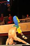 South America, Brazil, Rio. Male Capoeira performer in the Plataforma Show in Rio.