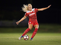 Boyds, MD - Saturday May 20, 2017: Line Sigvardsen Jensen during a regular season National Women's Soccer League (NWSL) match between the Washington Spirit and FC Kansas City at Maureen Hendricks Field, Maryland SoccerPlex.