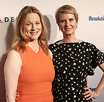 Laura Linney and Cynthia Nixon attends the 83rd Annual Drama League Awards Ceremony  at Marriott Marquis Times Square on May 19, 2017 in New York City.