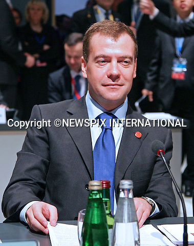 """PRESIDENT DMITRY MEDVEDEV.G20 SUMMIT, Excel Centre, London_02/04/2009.Photo: Newspix International..**ALL FEES PAYABLE TO: """"NEWSPIX INTERNATIONAL""""**..PHOTO CREDIT MANDATORY!!: NEWSPIX INTERNATIONAL(Failure to credit will incur a surcharge of 100% of reproduction fees)..IMMEDIATE CONFIRMATION OF USAGE REQUIRED:.Newspix International, 31 Chinnery Hill, Bishop's Stortford, ENGLAND CM23 3PS.Tel:+441279 324672  ; Fax: +441279656877.Mobile:  0777568 1153.e-mail: info@newspixinternational.co.uk"""