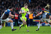 Sam James of Sale Sharks in possession. Aviva Premiership match, between Harlequins and Sale Sharks on January 7, 2017 at the Twickenham Stoop in London, England. Photo by: Patrick Khachfe / JMP