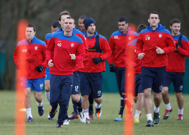 Andy Mitchell leading the squad around
