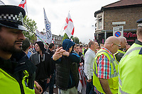 The racist English Defence League attempt to march in Walthamstow which they claim is a hotbed for Islamic extremism. A counter demonstaration by Unite Against Facsim and We Are Waltham Forest outnumbered the EDL by ten to one. There were scuffles with Police and arrests on both sides. The EDL were prevented from having their rally by the counter demonstration.