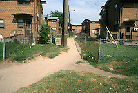1993 June 21..Assisted Housing.Calvert Square..BEFORE RENOVATIONS.ROLL 4-9.WIDE STREET BETWEEN EAST OLNEY & BAGNALL LOOKING WEST...NEG#.NRHA#..