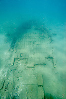 Wooden hull of a 17th century shipwreck in Panamanian waters.