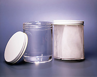 EXPANSION OF FROZEN WATER CRACKS JAR<br /> 1g Of Ice Has Greater Volume Than 1g Water<br /> In liquid water each molecule is hydrogen bonded to approximately 3.4 other water molecules. In ice each each molecule is hydrogen bonded to 4 other molecules. There is more space between the ice molecules so the structure takes up more space.