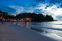 Beautiful sunset scene at Kata beach, Phuket, Thailand